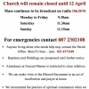 Covid19 - 29th March 2020 Our Latest Parish Update