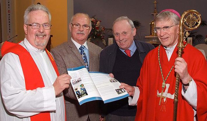 Fr. Pat Fogarty, Gerry Nunan, Martin Parfrey, Bishop John Buckley with the April 2014